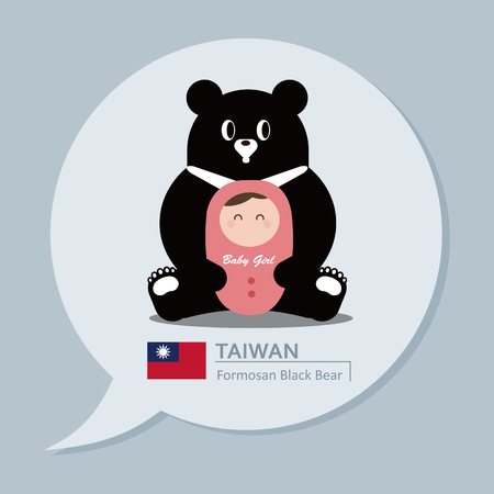 serial: Symbol of Taiwan - Formosa Black Bear Its a part of Travel Collection Serial, every country has its own representing illustration.