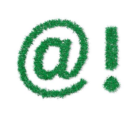 Vector green grass math symbols