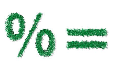 simbolos matematicos: Vector hierba verde símbolos matemáticos Vectores