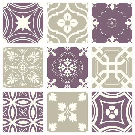 Classic vintage elegant pastel violet seamless abstract pattern  イラスト・ベクター素材