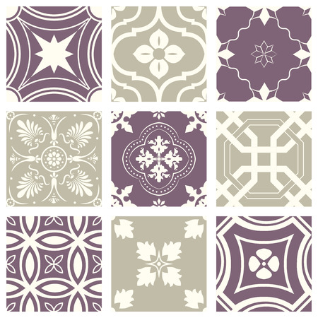 Classic vintage elegant pastel violet seamless abstract pattern 矢量图像