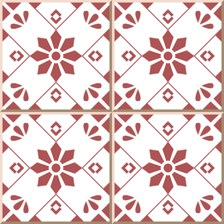 Ceramic tile pattern 320 cross square check flower