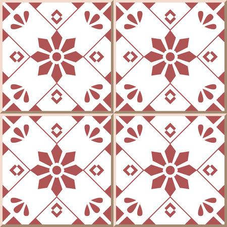 Ceramic tile pattern 320 cross square check flower