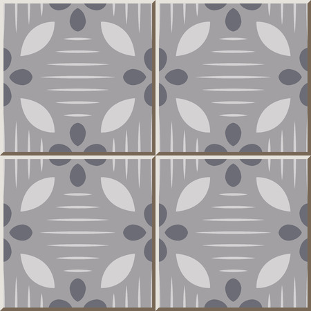 Ceramic tile pattern 325 light grey curve cross line