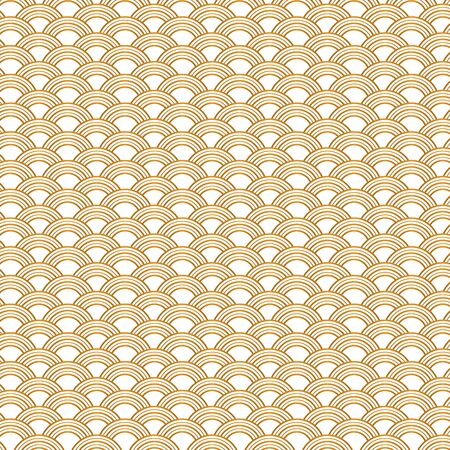 fish scale: Repeat background image of golden gradient fish scale.