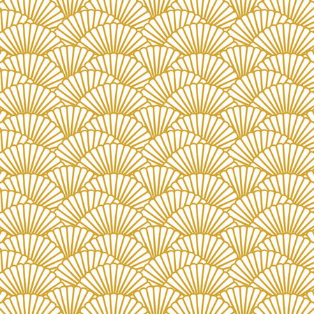 Background image of repeat scallop shape pattern background image. Иллюстрация