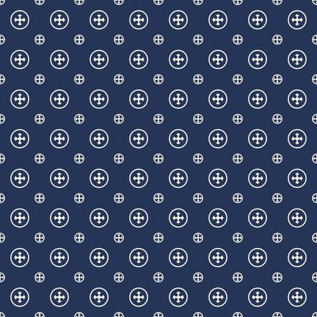 navy blue: Seamless background image of navy blue cross round pattern.