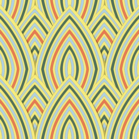 curve line: Antique seamless background image of colorful curve repeat line scale