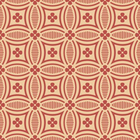 curve line: Antique seamless background image of curve round cross line flower