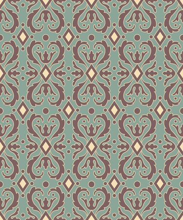 rhomb: Antique seamless background image of curve spiral round rhomb check kaleidoscope