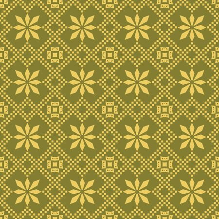 rhomb: Antique seamless background image of geometry check cross square rhomb flower