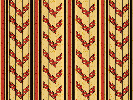 primitive: Antique seamless background image of primitive geometry check arrow line