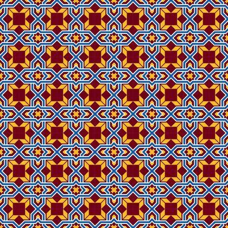 cross bar: Seamless background image of old style cross geometry pattern. Illustration
