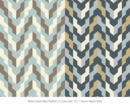 Retro Seamless Pattern 2 Color Set_131 Arrow Geometry Imagens - 67308159