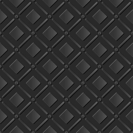 paper cut art: Seamless 3D dark paper cut art background 415 round corner square check cross line