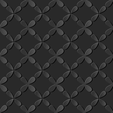 paper cut art: Seamless 3D dark paper cut art background 438 vintage cross water drop geometry