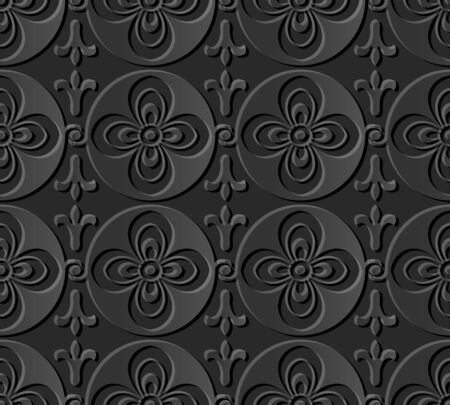 3D paper art 585 round cross curve flower