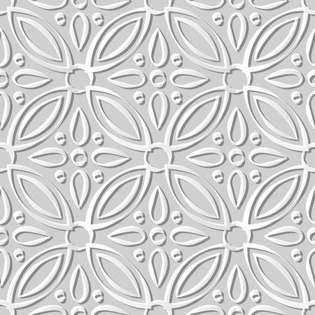 3D paper art 586 round cross flower kaleidoscope