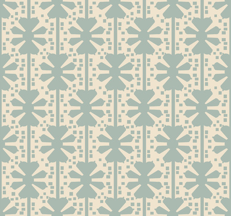 Antique seamless background square cross flower geometry