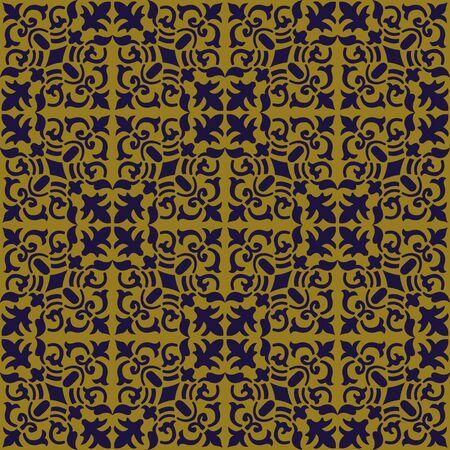 vine  plant: Antique seamless background 193_spiral vine plant kaleidoscope Illustration