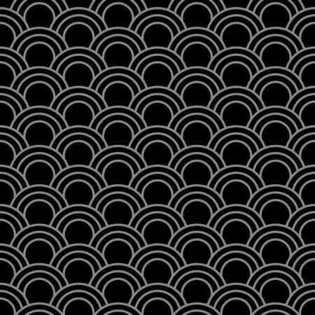 fish scale: Antique seamless background 377_oriental fish scale round curve line