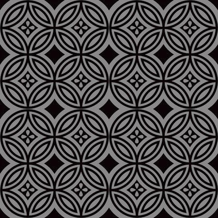 Antique seamless background 174_round cross line flower