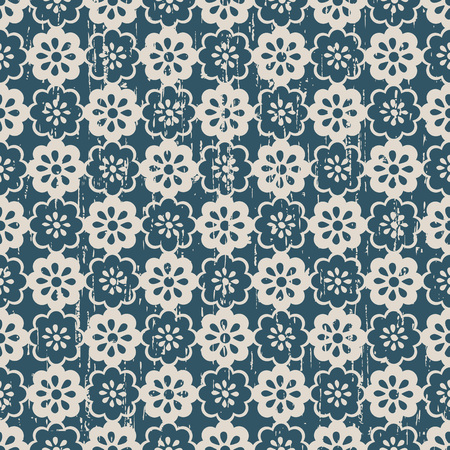 worn out: Seamless vintage worn out cute flower pattern background.