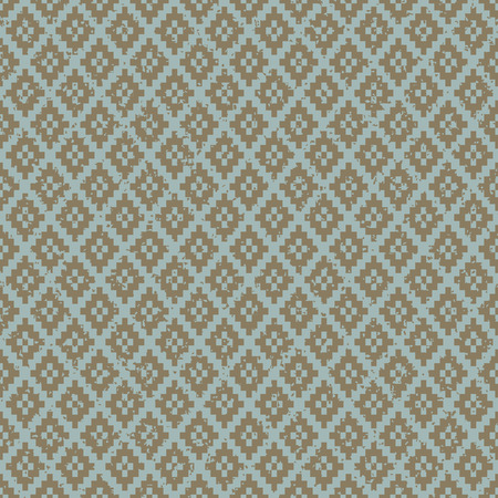 worn out: Seamless vintage worn out diamond check pixel pattern background.