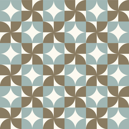 worn out: Seamless vintage worn out geometry assemble pattern background.