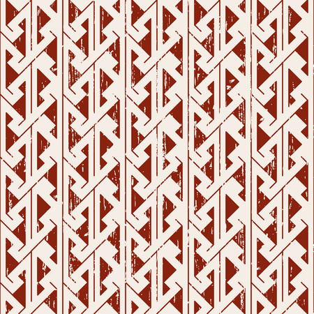 worn out: Seamless worn out sawtooth aboriginal geometry pattern background. Illustration