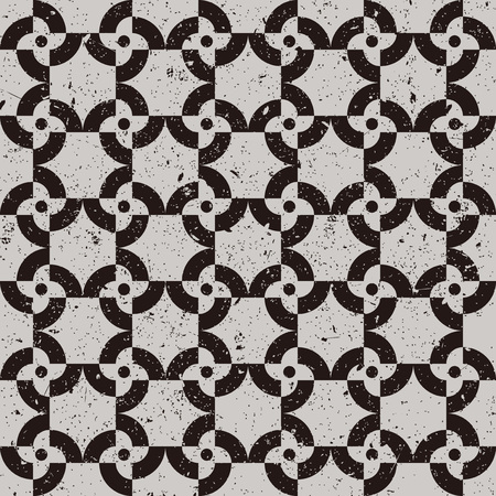 worn out: Seamless background image of worn out black flower pattern. Illustration