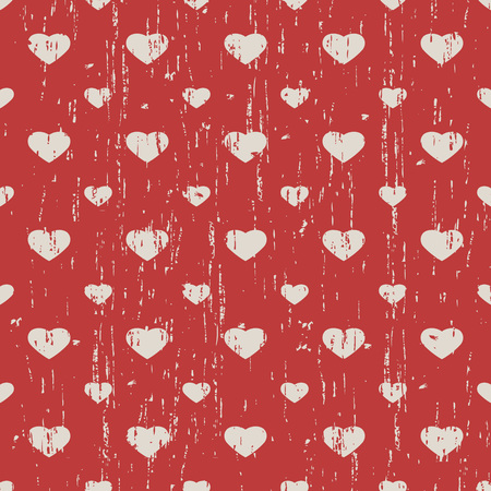 out of shape: Seamless vintage worn out heart shape pattern background.
