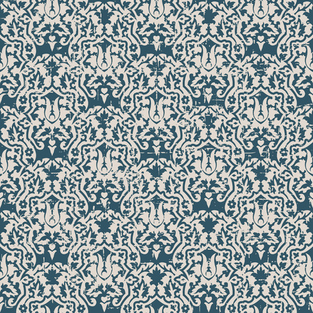 worn out: Seamless worn out antique background image of flower leaf kaleidoscope