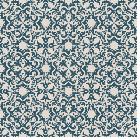 worn out: Seamless worn out antique background image of round spiral kaleidoscope flower