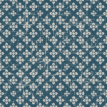 worn out: Seamless worn out antique background image of vintage cross flower