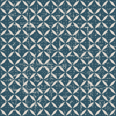 worn out: Seamless worn out antique background image of elegant rhomb geometry cross