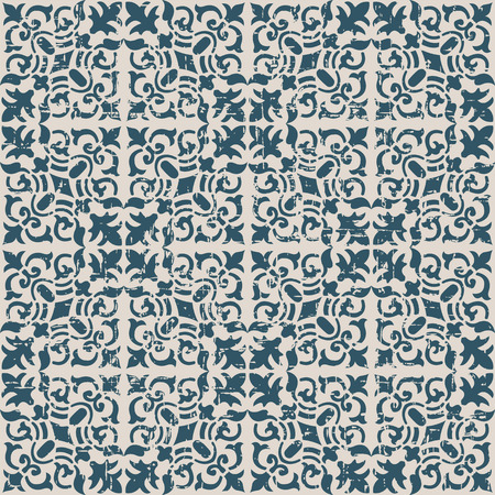 vine  plant: Seamless worn out antique background image of spiral vine plant kaleidoscope