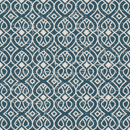 curve line: Seamless worn out antique background image of curve cross line