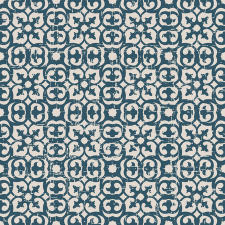 worn out: Seamless worn out antique background image of round curve kaleidoscope