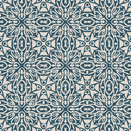 worn out: Seamless worn out antique background image of cross curve kaleidoscope