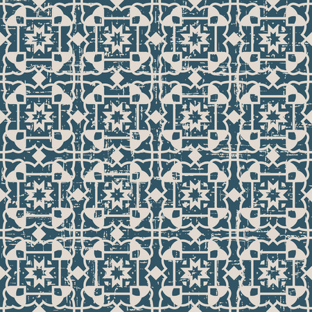 worn out: Seamless worn out antique background image of outline geometry cross Illustration