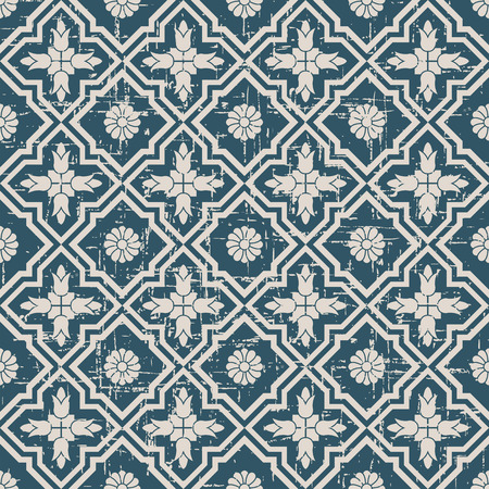worn out: Seamless worn out antique background image of cross flower kaleidoscope