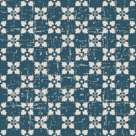 worn out: Seamless worn out antique background image of square cross flower