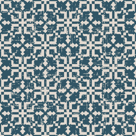worn out: Seamless worn out antique background image of mosaic kaleidoscope geometry
