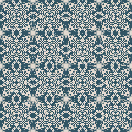 worn out: Seamless worn out antique background image of geometry kaleidoscope