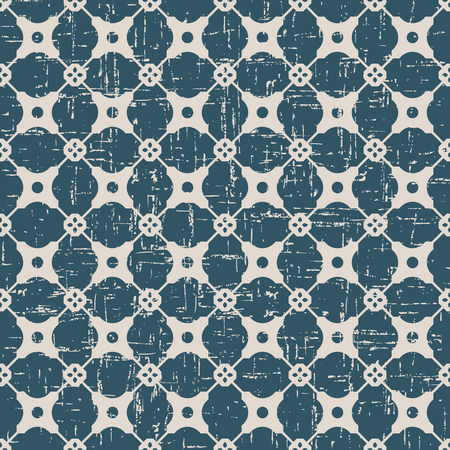 worn out: Seamless worn out antique background image of diamond cross round flower