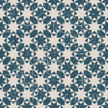worn out: Seamless worn out antique background image of octagon star cross triangle geometry