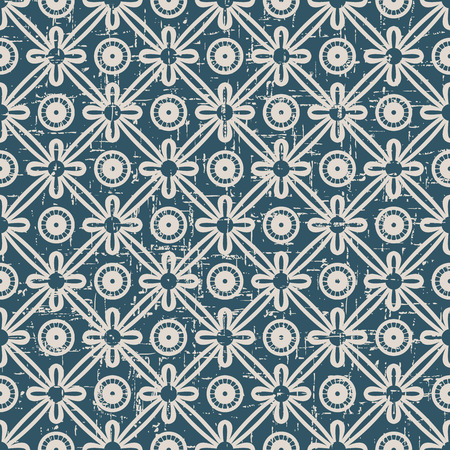 worn out: Seamless worn out antique background image of vintage round cross ribbon flower