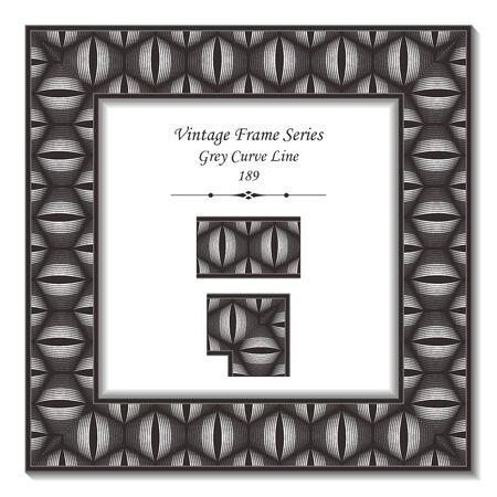 curve line: Vintage 3D frame 189 Grey Curve Line
