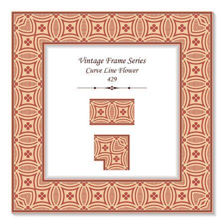 curve line: Vintage 3D frame 429 Curve Line Flower